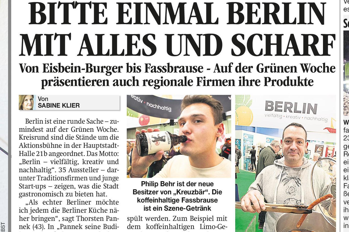 Berliner Firmen GRU¨NE WOCHE neu klein