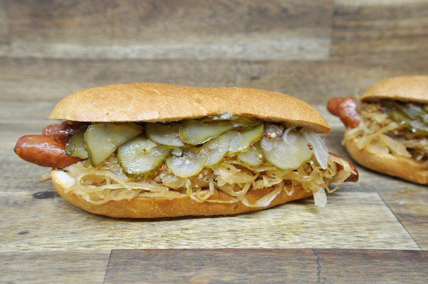 Berliner Bierkutscher Hot Dog von Pannek seine Budike Catering