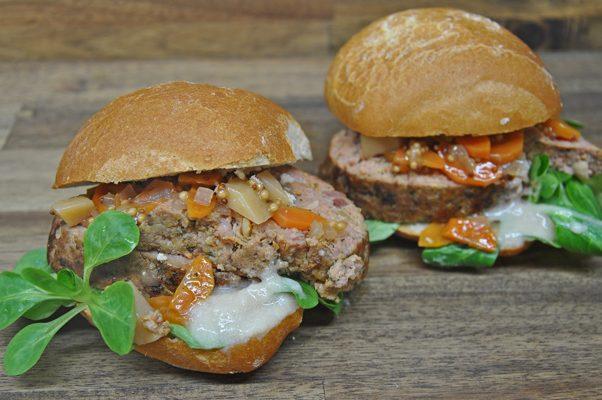 Das Falscher-Hase-Sandwich von Pannek seine Budike Catering