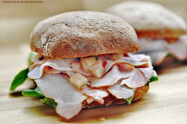 Das Altberliner Kasseler-Sandwich von Pannek seine Budike Catering