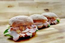 Kasseler-Sandwiches