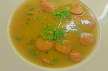 Rixdorfer Kartoffelsuppe mit Würstchen